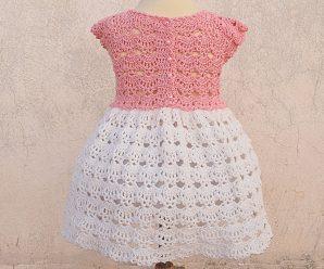 Crochet Beautiful Dress For A Baby Girl