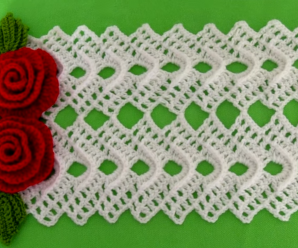 How To Crochet Decorative Mat With Flowers