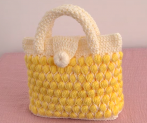 Crochet 3D Stylish Handbag