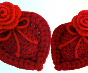 Crochet Heart With Flower