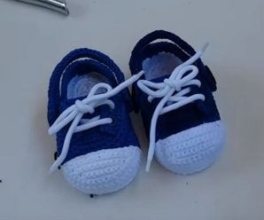 Crochet Super Easy Baby Sneakers