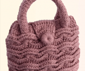 Crochet Braided 3 D Handbag