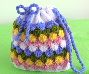 How To Crochet Colorful Purse Bag For Beginners