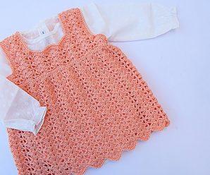 Crochet Lovely Dress For Baby