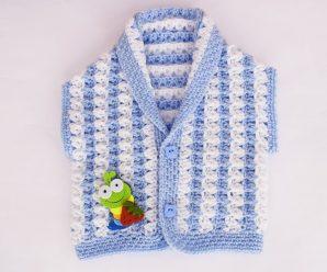 Crochet Fast And Easy Sleeveless Vest For Baby