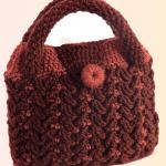 Crochet 3 D Handbag With Leaf Braids