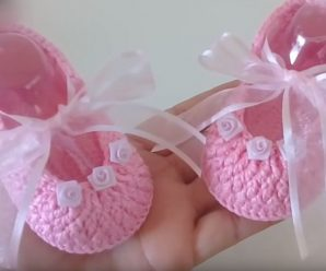 Crochet Beautiful Baby Girl Shoes
