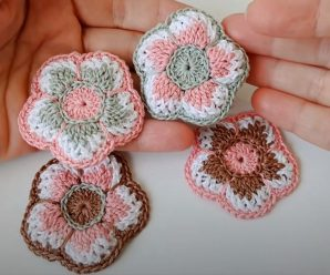 Crochet Fast And Easy Multicolored Flower