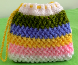 Crochet Celtic Stitch Purse Bag
