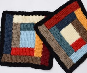 Crochet Colored Granny Square For Blankets