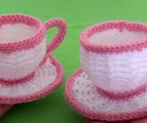How To Crochet Tea Cups For Decoration