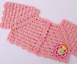 Crochet Super Easy Bolero For Baby Girl