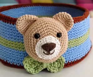 Crochet Lovely Bear Box For Souvenirs