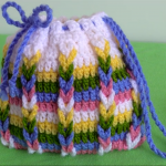 Crochet Tiny Bag With Colorful Braids
