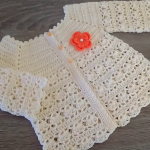 Crochet Beautiful Jacket For Baby Girl