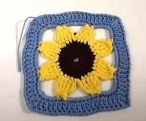How To Crochet Sunflower Square