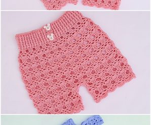 Crochet Easy T-shirt And Shorts Set