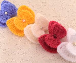 Crochet 3D Colorful Bows
