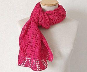 Crochet Diamond Stitch Scarf