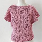 Crochet Stylish Blouse In 3 Sizes