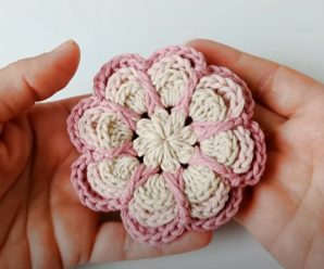 Crochet Rose Flower With Layered Petals