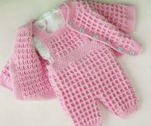 Crochet Baby Romper Suit