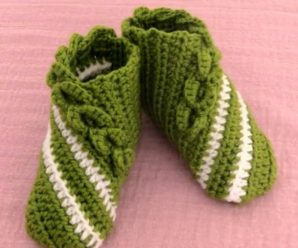 Crochet Comfortable Slippers In All Sizes