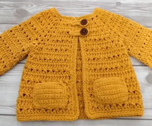 Crochet Stylish Outwear For A Baby