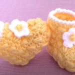 Crochet Easy Baby Boots In 25 Minutes