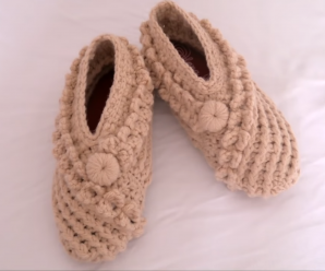 Crochet Fast And Easy Slippers For Adults