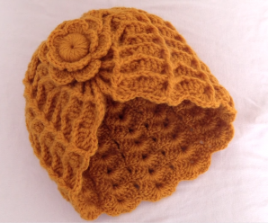 Crochet Fast And Stylish Hat With Tiny Flower