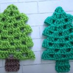 Crochet Simple Christmas Tree Ornament