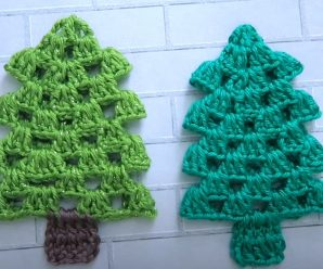 Crochet Simple Christmas Tree Ornament