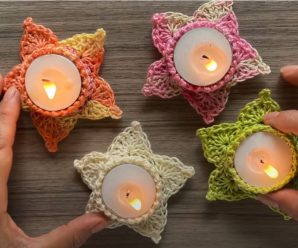 Crochet Fast And Easy Star Candle Holders