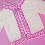 Crochet Mosaic Stitch Jacket For Baby