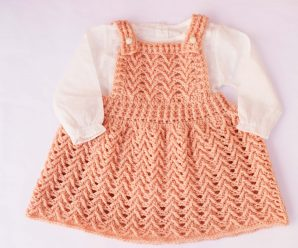 Crochet Lovely Dress For Baby Girl