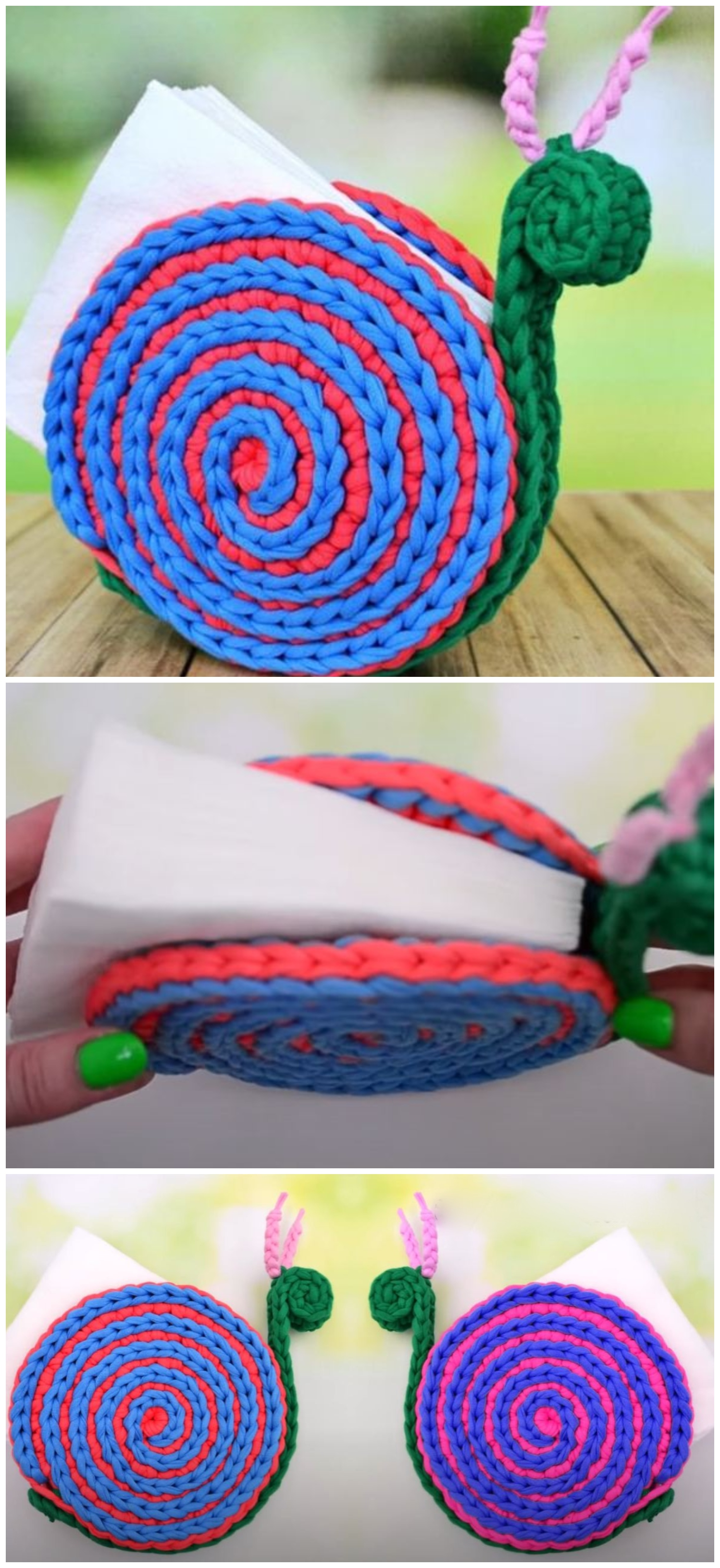 Crochet A Snail Napkin Holder Crochet Ideas