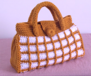 Crochet Lovely Bag With Squares