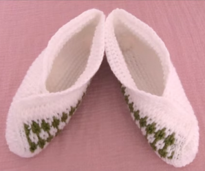 Crochet Lovely Slippers With Squares