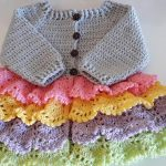 Crochet Layered Cardigan For A Baby Girl