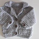 Crochet Baby Bomber Jacket