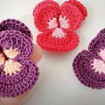 Crochet Simple Flower Applique