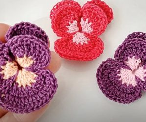 Crochet Simple Flower Applique