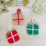 Crochet Tiny Boxes For Christmas Decoration