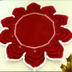 Crochet Poinsettia Flower Doily