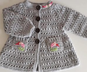 Crochet A Coat For Girls