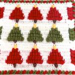 Crochet 3 D Granny Square For Christmas