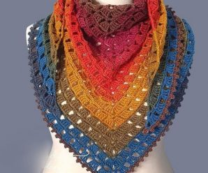 Crochet Beautiful Block Stitch Shawl