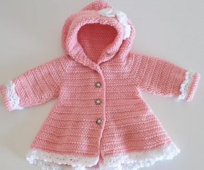 Crochet A Beautiful Coat For A Baby Girl