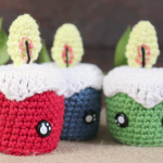 Crochet Mini Candle Toy For Christmas